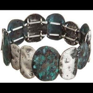 Jewelry - Patina and Silver Discs Bracelet